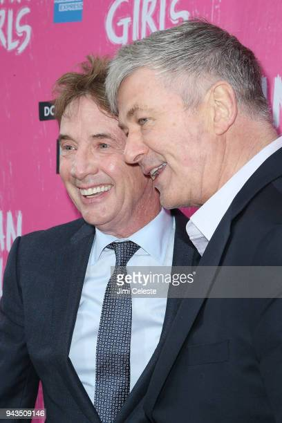 Martin Short and Alec Baldwin attend the opening night of Mean Girls on Broadway at August Wilson Theatre on April 8 2018 in New York City