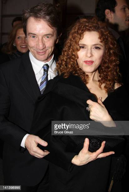 Martin Short and Bernadette Peters attend the Broadway opening night of 'Death Of A Salesman' at the Barrymore Theatre on March 15 2012 in New York...