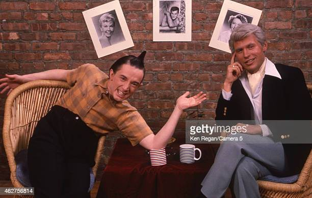 Martin Short and Billy Crystal are photographed on the set of Saturday Night Live in 1984 in New York City CREDIT MUST READ Ken Regan/Camera 5 via...