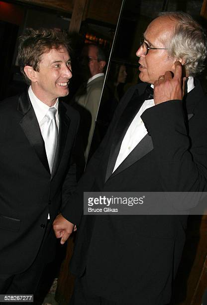Martin Short and Chevy Chase during Martin Short Fame Becomes Me Broadway Opening Night Arrivals at Bernard B Jacobs Theatre in New York New York...