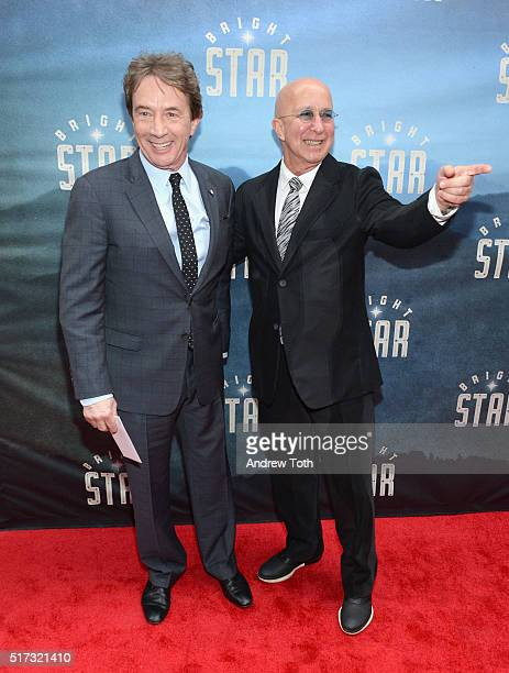 Martin Short and Paul Shaffer attend the Bright Star opening night on Broadway on March 24 2016 in New York City