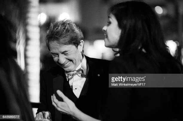 Martin Short and Sarah Silverman attend the 2017 Vanity Fair Oscar Party hosted by Graydon Carter at Wallis Annenberg Center for the Performing Arts...