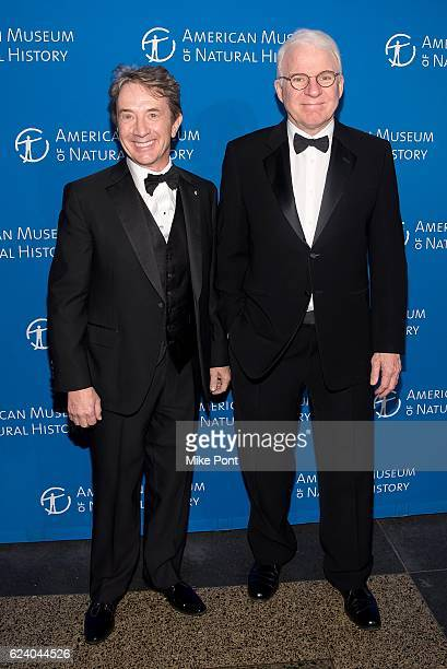 Martin Short and Steve Martin attend the 2016 American Museum Of Natural History Museum Gala at American Museum of Natural History on November 17...