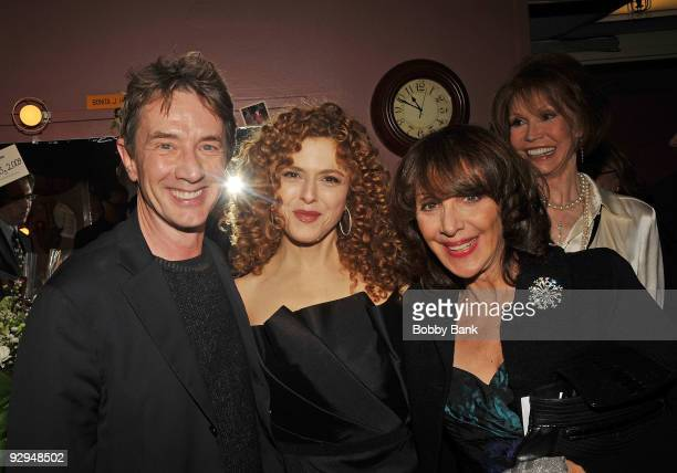 Martin Short Bernadette Peters Andrea Martin and Mary Tyler Moore attends Bernadette Peters in concert for Broadway Barks after party at Blue Fin on...