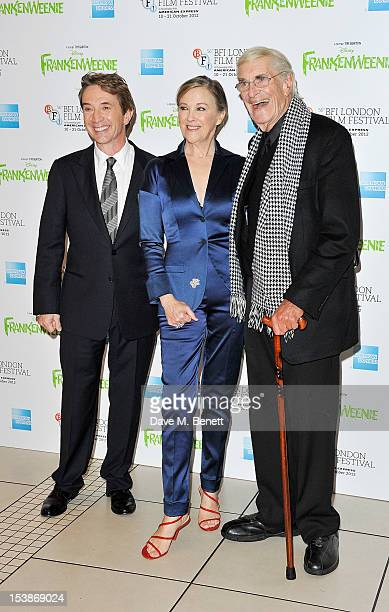 Martin Short Catherine O'Hara and Martin Landau attend the Premiere of 'Frankenweenie' as the Opening Film of the 56th BFI London Film Festival at...