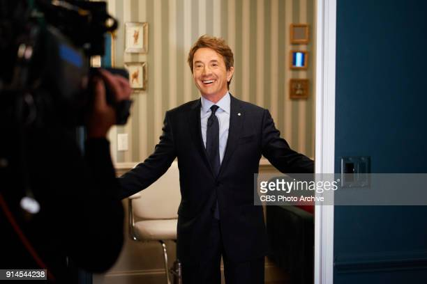 Martin Short checks in from the green room with James Corden during The Late Late Show with James Corden Wednesday January 31 2018 On The CBS...