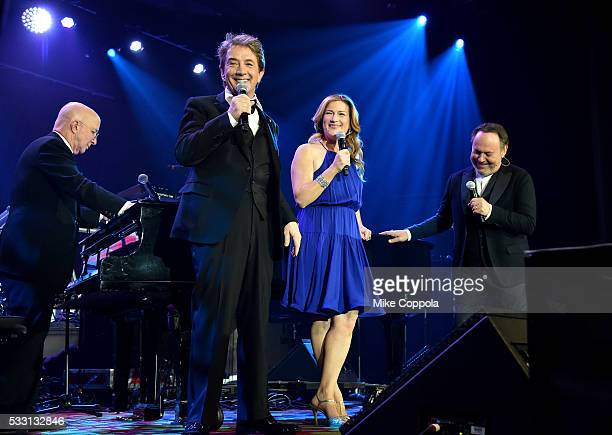 Martin Short performs with Ana Gasteyer Paul Shaffer and Billy Crystal during the 2016 Toys'R'Us Children's Fund Gala on May 19 2016 in New York City...