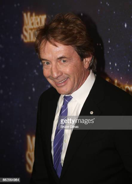 Martin Short poses at The Opening Night of Steve Martin's new play Meteor Shower on Broadway at The Booth Theatre on November 29 2017 in New York City