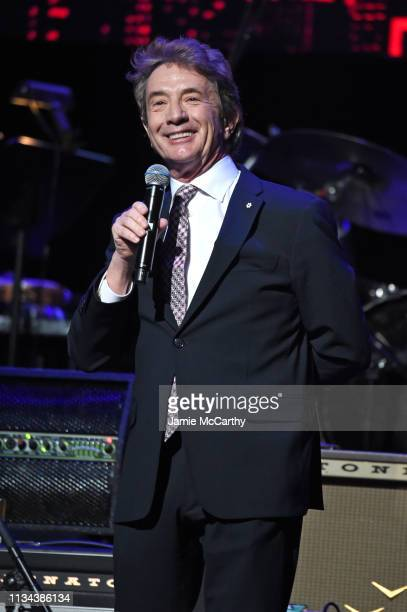 Martin Short speaks onstage during the Third Annual Love Rocks NYC Benefit Concert for God's Love We Deliver on March 07 2019 in New York City