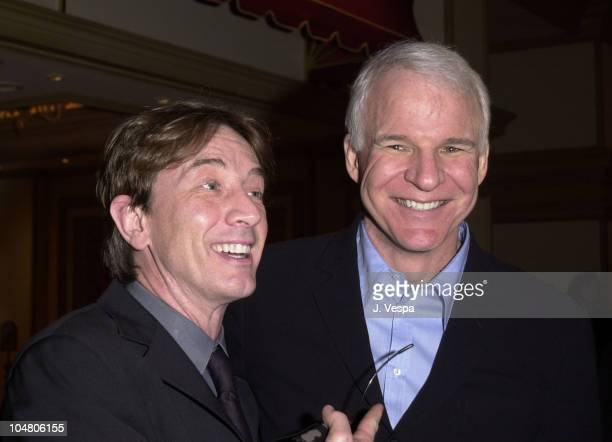 Martin Short Steve Martin during The Opening of The Private Collection of Steve Martin to be on display at the Bellagio Gallery of Fine Art at...