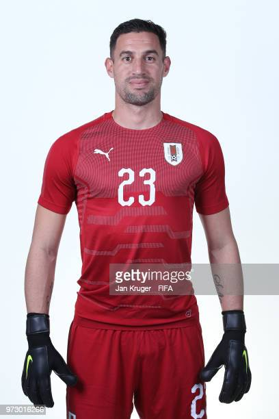 Martin Silva of Uruguay poses for a portrait during the official FIFA World Cup 2018 portrait session at on June 12 2018 in Nizhniy Novgorod Russia