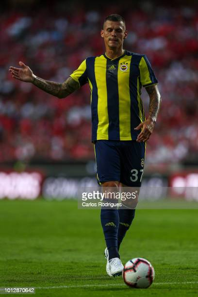 Martin Skrtel of Fenerbache SK during the match between SL Benfica and Fenerbache SK for UEFA Champions League Qualifier at Estadio da Luz on August...