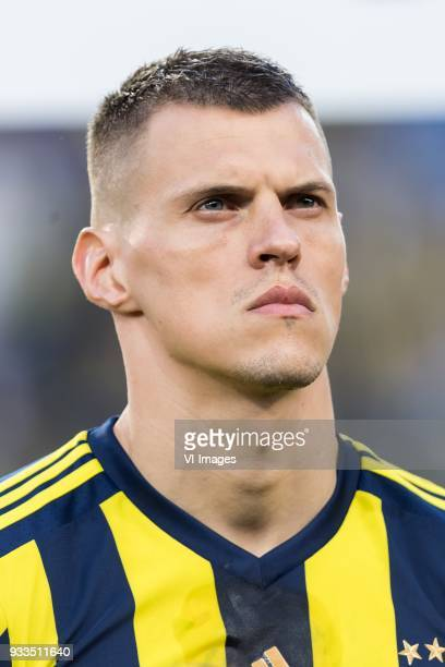 Martin Skrtel of Fenerbahce SK during the Turkish Spor Toto Super Lig match Fenerbahce AS and Galatasaray AS at the Sukru Saracoglu Stadium on March...