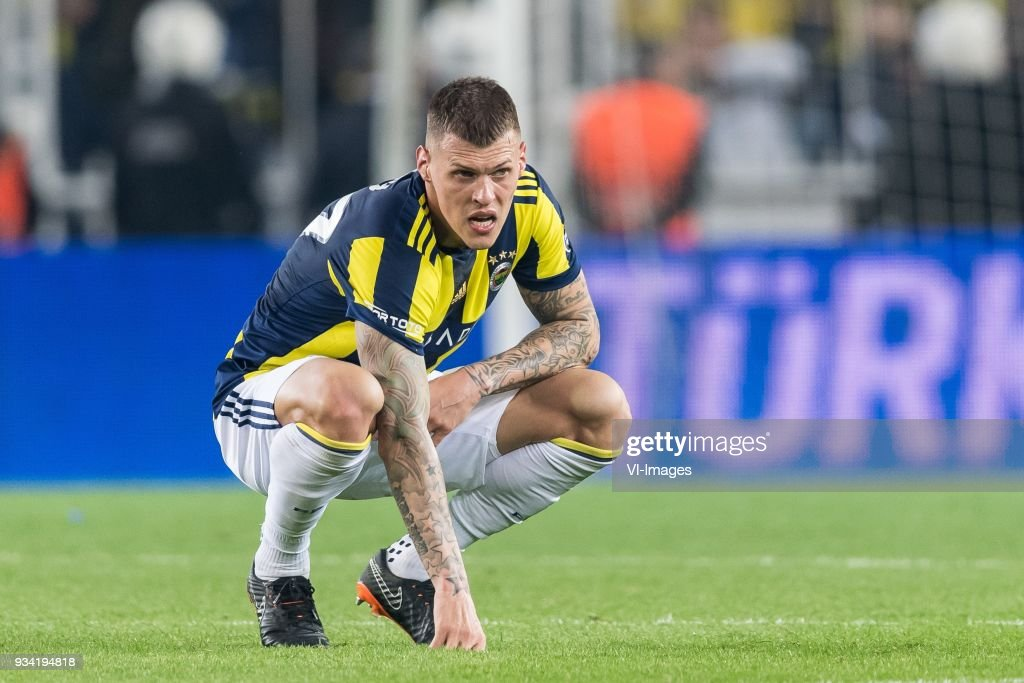 Martin Skrtel of Fenerbahce SK during the Turkish Spor Toto Super Lig match Fenerbahce AS and Galatasaray AS at the Sukru Saracoglu Stadium on March 17, 2018 in Istanbul, Turkey