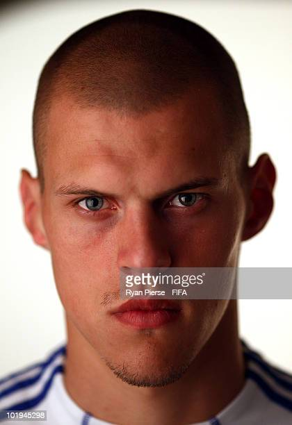 Martin Skrtel of Slovakia poses during the official FIFA World Cup 2010 portrait session on June 10 2010 in Pretoria South Africa