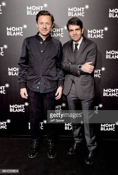 Martin Solveig and Montblanc CEO Jerome Lambert attend the Montblanc Summit launch event at The Ledenhall Building on March 16 2017 in London England