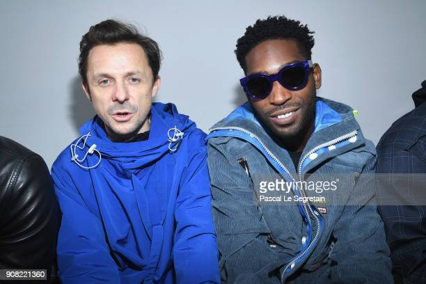 Martin Solveig and Tinie Tempah attend the Lanvin Menswear Fall/Winter 20182019 show as part of Paris Fashion Week on January 21 2018 in Paris France