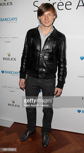 Martin Solveig attend ''the Jo Wilfried Tsonga 'Ace de Coeur' Charity Cocktail'' at Hotel Park Hyatt on May 20 2010 in Paris France
