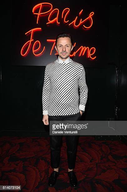 Martin Solveig attends 'Paris Je T'aime' party Dolce Gabbana on March 6 2016 in Paris France