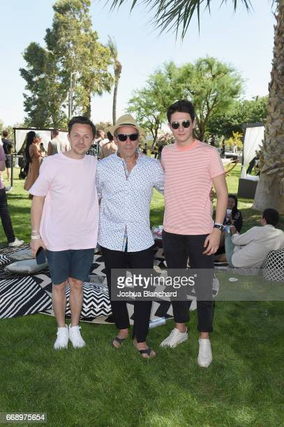 Martin Solveig CEO of Republic Records Monte Lipman and Kungs attend The Hyde Away hosted by Republic Records SBE presented by Hudson and...