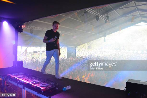 Martin Solveig performs at the Electric Zoo Music Festival Day 1 at Randall's Island on September 1 2017 in New York City