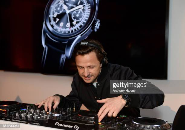 Martin Solveig performs at the Montblanc Summit launch event at The Ledenhall Building on March 16 2017 in London England