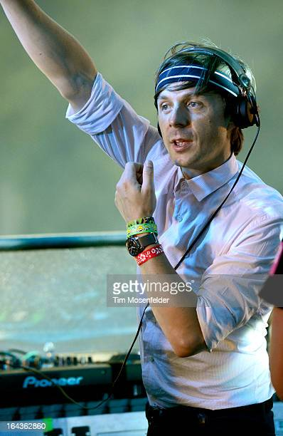 Martin Solveig performs at the Ultra Music Festival on March 22 2013 in Miami Florida