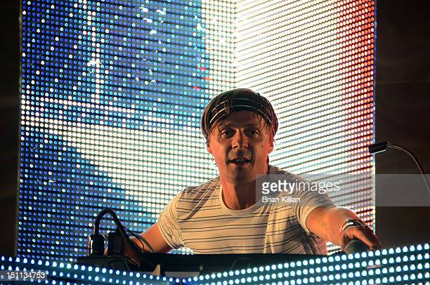 Martin Solveig performs during Electric Zoo 2012 at Randall's Island on September 1 2012 in New York City