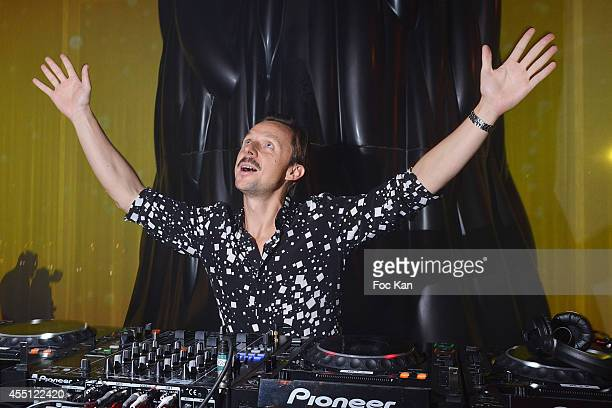 Martin Solveig performs during the 'Orange' 20th Anniversary Party At Parc Des Exposition Porte de Versailles on September 9 2014 in Paris France