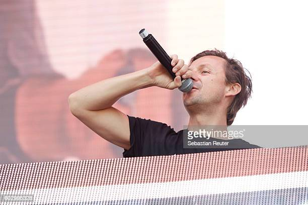 Martin Solveig performs live on stage during the second day of the Lollapalooza Berlin music festival at Treptower Park on September 11 2016 in...