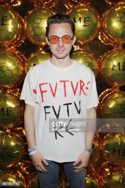 Martin Solveig poses at the ME Miami Launch Party With Urban Junkies Pacha Ibiza And Cafe Mambo Ibiza Day 2 at ME Miami Hotel on March 25 2017 in...