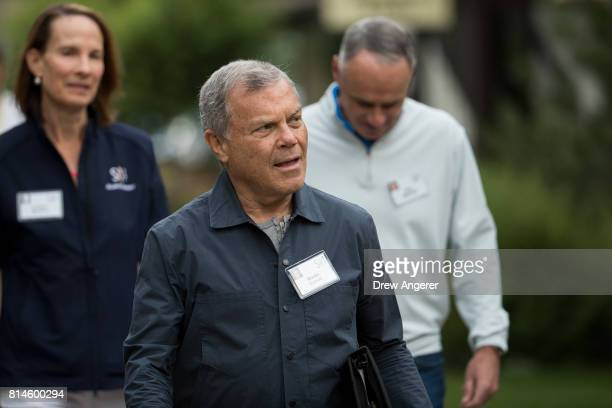 Martin Sorrell chief executive officer of Wire and Plastic Products attends the fourth day of the annual Allen Company Sun Valley Conference July 14...