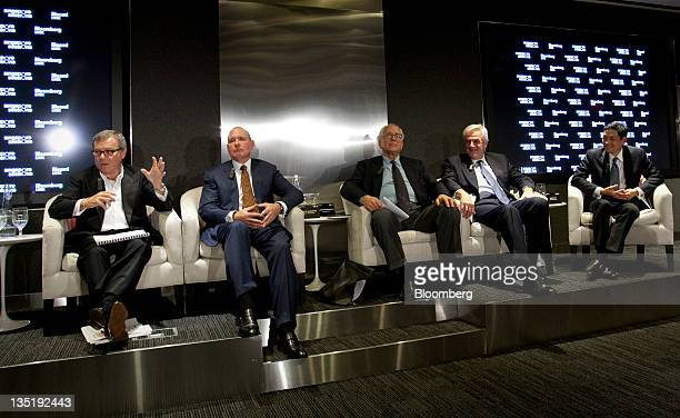 Martin Sorrell, chief executive officer of WPP Plc, from left, Gary Garrabrant, chief executive officer and co-founder of Equity International Inc.,...