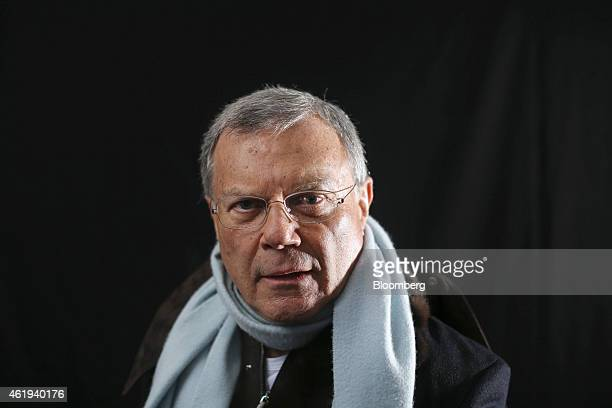 Martin Sorrell, chief executive officer of WPP Plc, poses for a photograph following a Bloomberg Television interview on day two of the World...