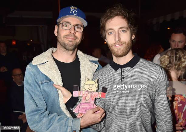 Martin Starr and Thomas Middleditch attend the Los Angeles Premiere of Andre The Giant from HBO Documentaries on March 29 2018 in Los Angeles...