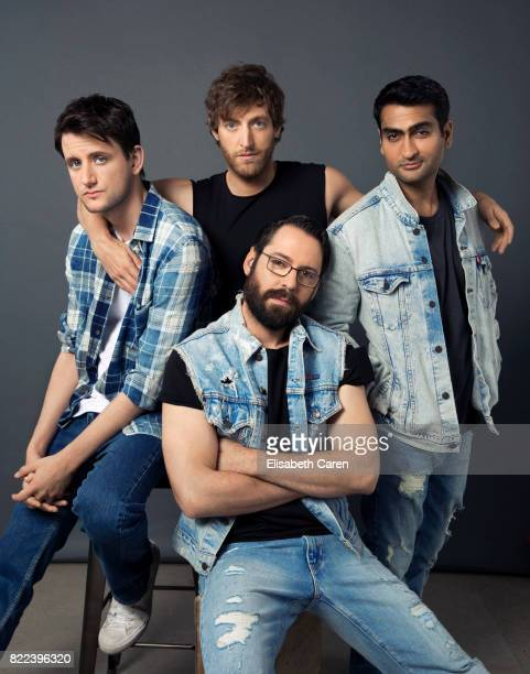 Martin Starr Kumail Nanjiani Thomas Middleditch and Zach Woods are photographed for The Wrap on April 9 2017 in Los Angeles California
