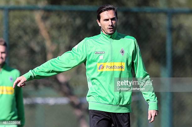 Martin Stranzl of Borussia Moenchengladbach during a training session on day two of Borussia Moenchengladbach training camp on January 9 2015 in...