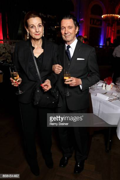 Martin Suter and his wife Margrith Nay attend the Tommy Hilfiger VIP Dinner in celebration of the 13th Zurich Film Festival on October 6 2017 in...