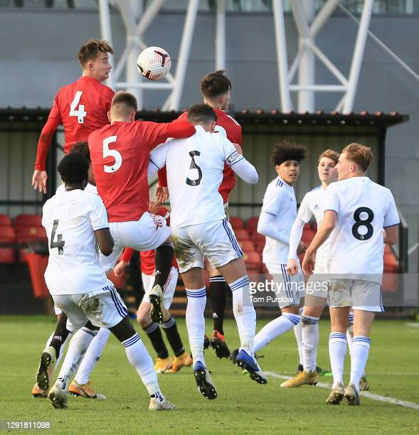 Martin Svidersky of Manchester United U18s in action during the U18 Premier League match between Manchester United U18s and Leeds United U18s at Aon...