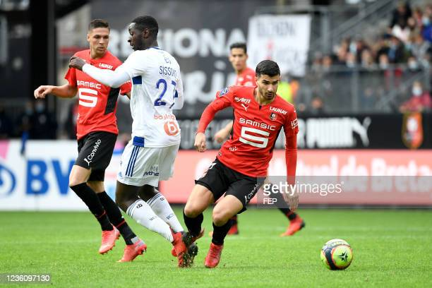 Martin TERRIER during the Ligue 1 Uber Eats match between Rennes and Strasbourg at Roazhon Park on October 24, 2021 in Rennes, France.