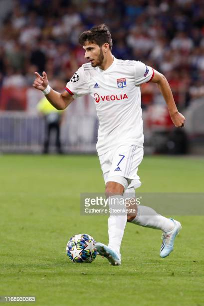 Martin Terrier of Olympique Lyonnais controls the ball during the UEFA Champions League group G match between Olympique Lyon and Zenit St. Petersburg...