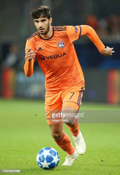 Martin Terrier of Olympique Lyonnais runs with the ball during the Group F match of the UEFA Champions League between TSG 1899 Hoffenheim and...