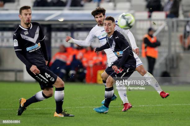 Martin Terrier of Strasbourg in action during the Ligue 1 match between FC Girondins de Bordeaux and Strasbourg at Stade Matmut Atlantique on...
