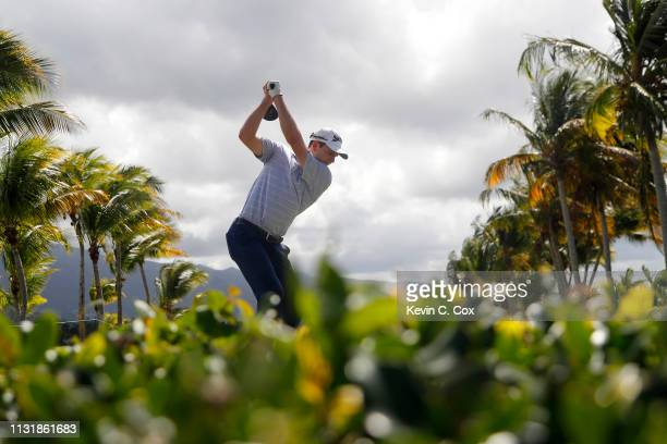 Martin Trainer plays his shot from the second tee during the final round of the Puerto Rico Open at Coco Beach Golf and Country Club on February 24...