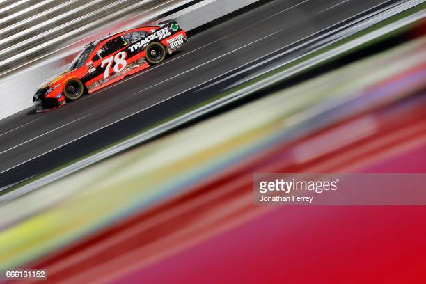 Martin Truex Jr driver of the Bass Pro Shops/TRACKER BOATS Toyota practices for the Monster Energy NASCAR Cup Series O'Reilly Auto Parts 500 at Texas...