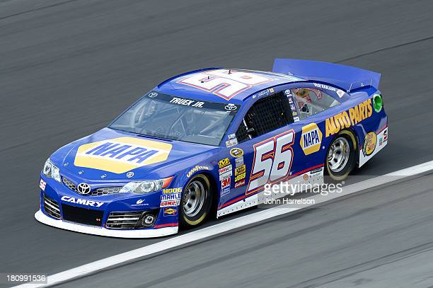 Martin Truex Jr driver of the NAPA Auto Parts Toyota during practice for the NASCAR Sprint Cup Series CocaCola 600 at Charlotte Motor Speedway on May...