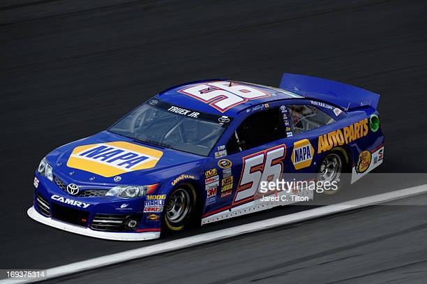 Martin Truex Jr drives the NAPA Auto Parts Toyota during practice for the NASCAR Sprint Cup Series CocaCola 600 at Charlotte Motor Speedway on May 23...