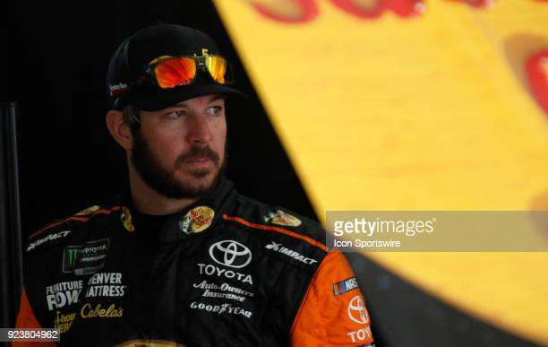 Martin Truex Jr. Furniture Row Racing 5-Hour Energy/ Bass Pro Shops Toyota Camry during practice for the 59th Annual Folds of Honor QuikTrip 500 on...
