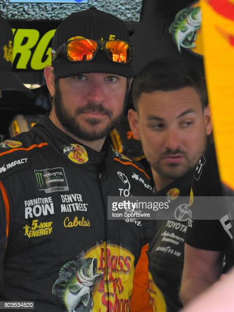 Martin Truex Jr Furniture Row Racing Bass Pro Shops/5hour ENERGY Toyota Camry during practice for the Monster Energy Cup Series Folds of Honor...