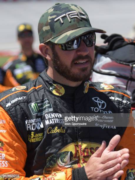 Martin Truex Jr Furniture Row Racing Toyota Camry Bass Pro Shops/5hour ENERGY before the Monster Energy Cup Series 49th Annual Geico 500 on April 29...